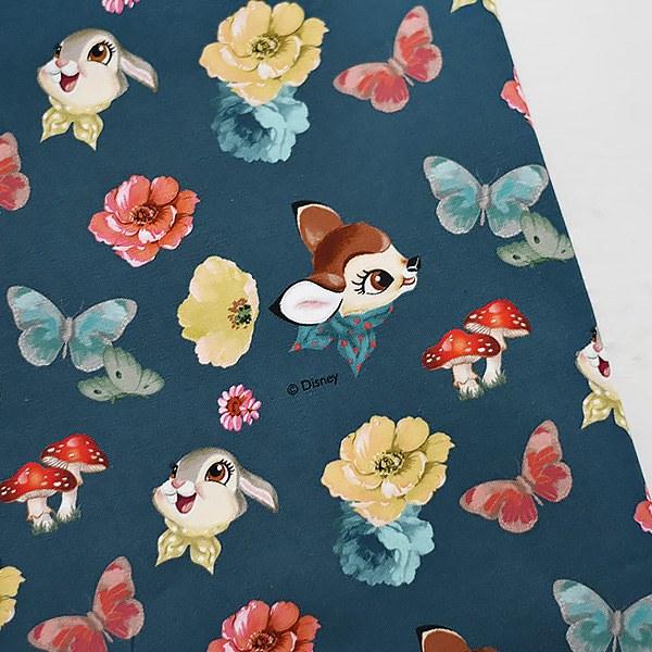綿20数平織り - バンビダンパー青色