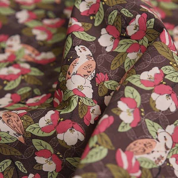 綿20数平織り - 椿バードビンテージ
