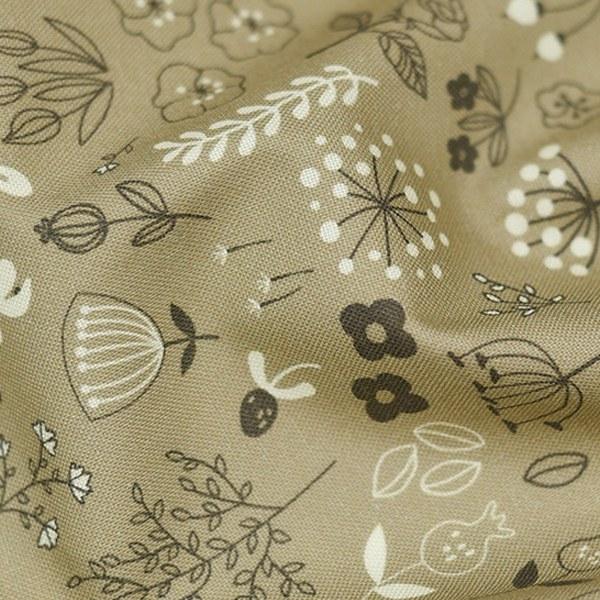 綿20数平織り - アーバンガーデンベージュ
