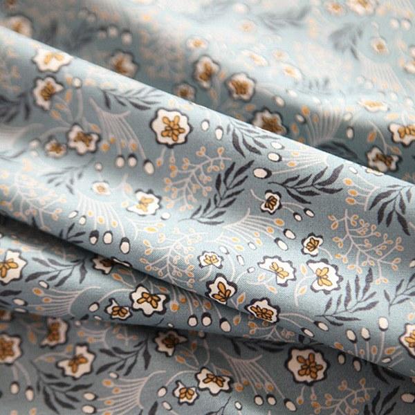 綿20数平織り - ランタナアロナブルー
